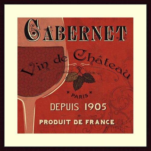 Barewalls 'Red Label I' by Pela Studio Framed Vintage Advertisement