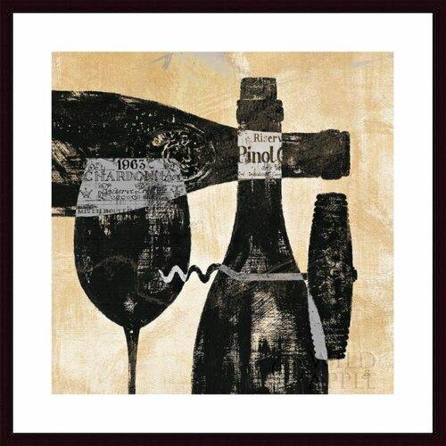 'Wine Selection I' by Daphne Brissonnet Framed Graphic Art