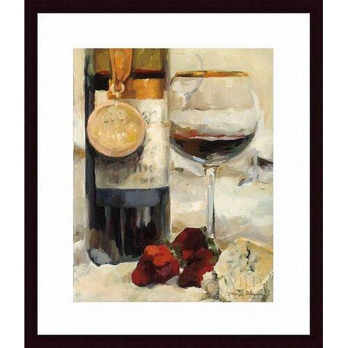 'Award Winning Wine II' by Marilyn Hageman Framed Graphic Art