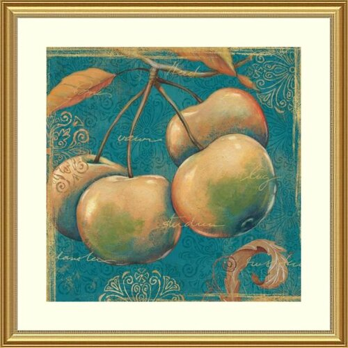 Printfinders 'Lovely Fruits III' by Daphne Brissonnet Framed Graphic Art