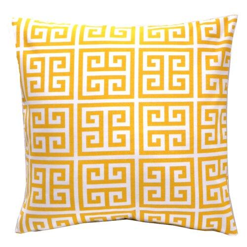 Elisabeth Michael Greek Key Towers Indoor / Outdoor Polyester Pillow