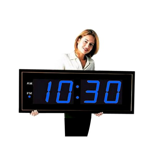 "Big Time Clocks Giant 8"" Blue Numbers Digital Wall Clock"