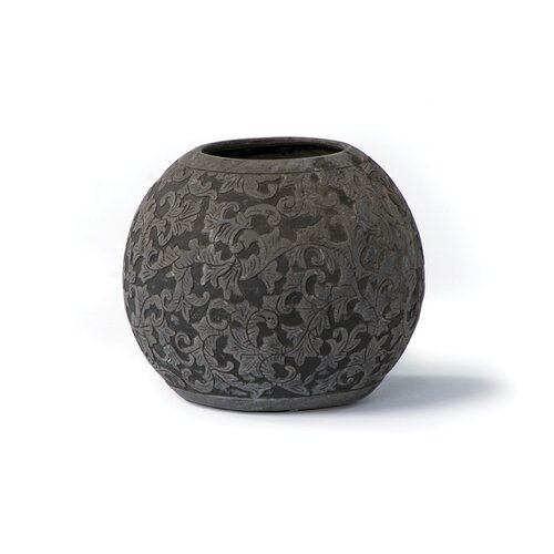 Round Etched Stone Grit Pot
