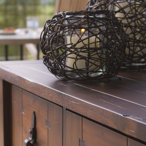 New Rustics Home Round Rattan Candleholder