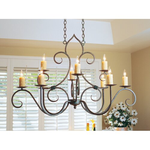 2nd Ave Design Clifton Oval 10 Light Chandelier