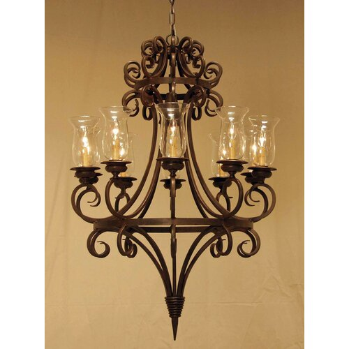 2nd Ave Design Symen 10 Light Chandelier
