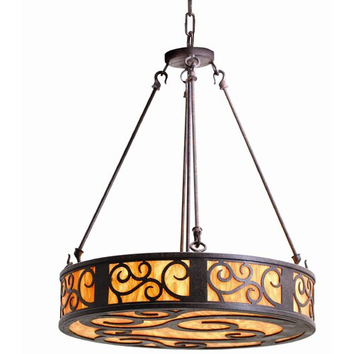 2nd Ave Design Dean 3 Light Drum Pendant