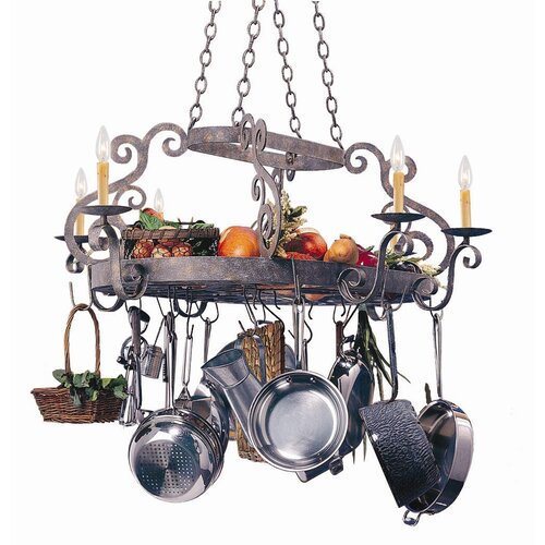 2nd Ave Design Neo Bella Chandelier Pot Rack with 6 Light