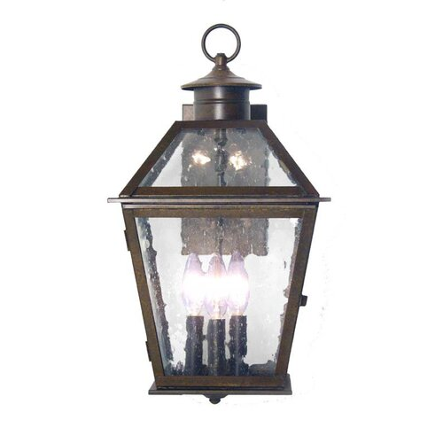 2nd Ave Design Corrina Wall Mount 3 Light Exterior Lantern
