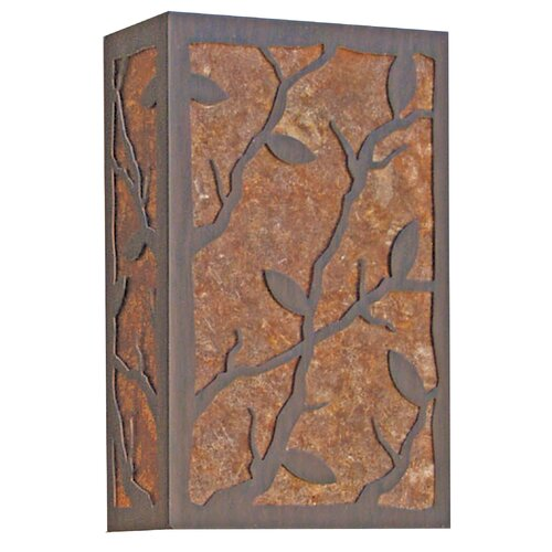 2nd Ave Design Branch Leaf 2 Light Outdoor Wall Sconce