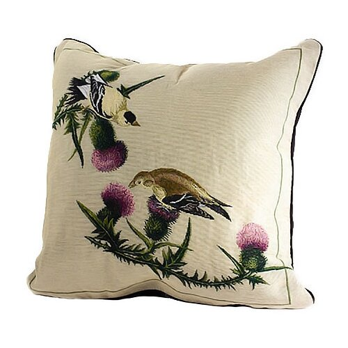 Rennie & Rose Design Group Bird Watchers Goldfinch Pillow