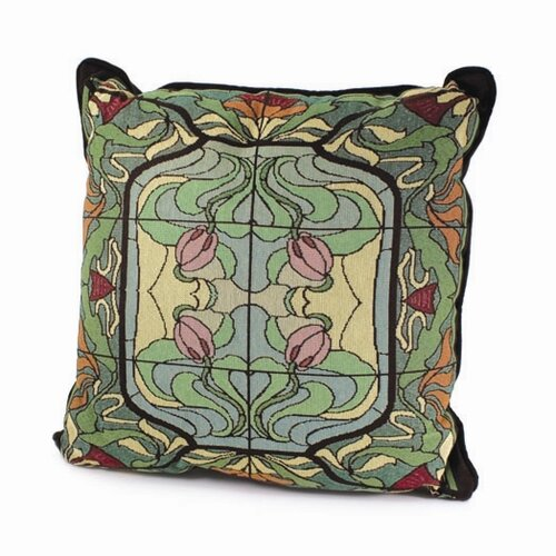 Rennie & Rose Design Group Arts and Crafts Thistle and Rose Bud Pillow