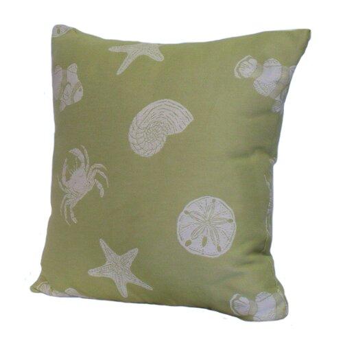 Rennie & Rose Design Group Key West Shells Polyester Stuffed Pillow