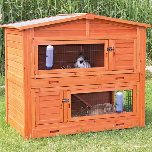 trixie natura 2 story small animal hutch reviews wayfair. Black Bedroom Furniture Sets. Home Design Ideas