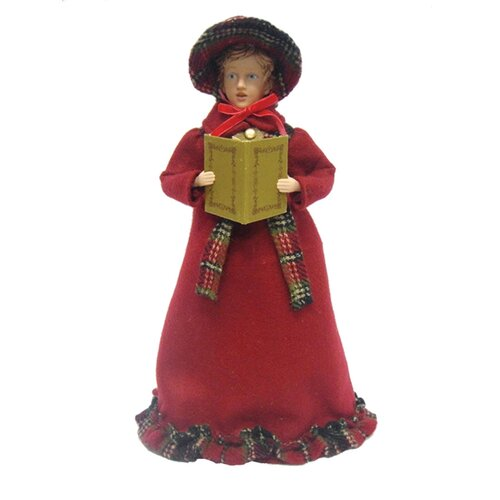 Santa's Workshop 4 Piece Victorian Plaid Carolers Figurines Set