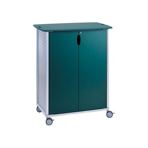 Peter Pepper Wheelies® Large AV Media Cart with Locking Doors and 2 Adjustable Shelves