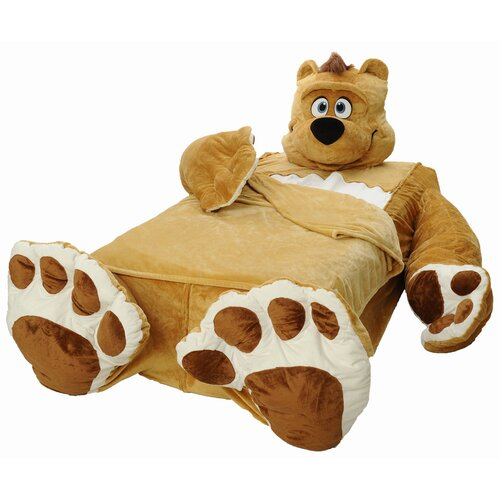 Cozy Cuddly Comfort Toddler Blanket with Honey Brown Bear Signature