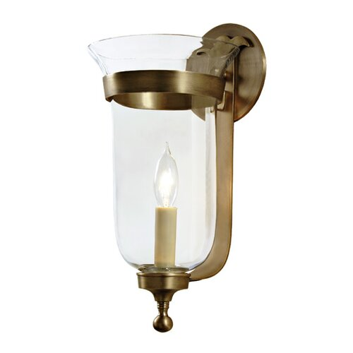 JVI Designs 1 Light Small Bell Jar Wall Sconce with Star Glass