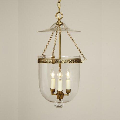 JVI Designs 3 Light Medium Bell Jar Foyer Pendant