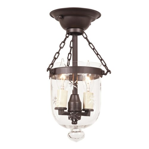JVI Designs 2 Light Tiny Bell Jar Semi Flush Mount