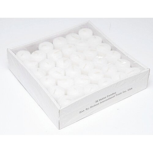 Biedermann and Sons Plain Unscented Votive Candles (Set of 36)