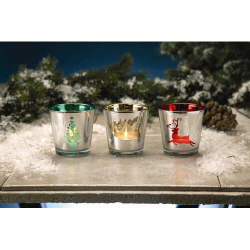 Biedermann and Sons Christmas Glass Votive Holder (Set of 6)
