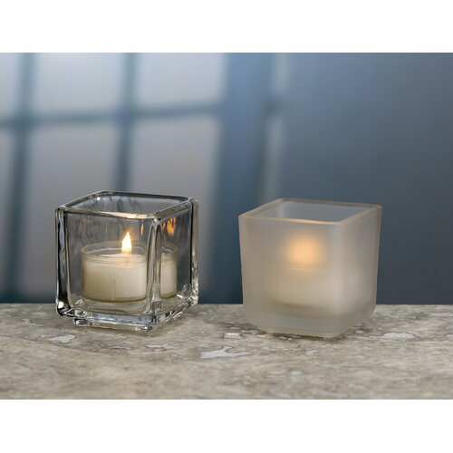 Biedermann and Sons Square Tea Light Candle Holder (Set of 4)