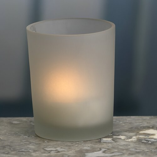 Biedermann and Sons Glass Votive Candle Holders (Set of 2)