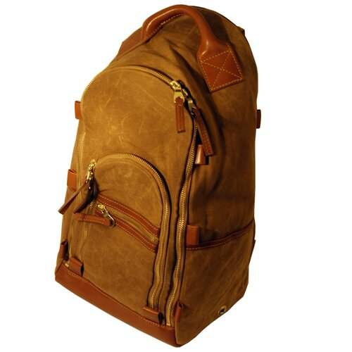 Waxed Canvas Oval Zippered Backpack