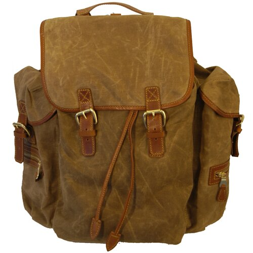 Waxed Canvas Rucksack Backpack