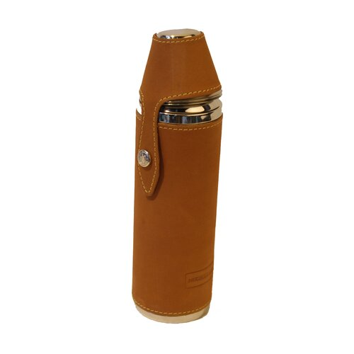 Leather 10 oz. Sports Man's Flask