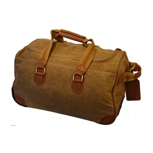Mulholland Brothers Waxed Canvas Rolling Duffel