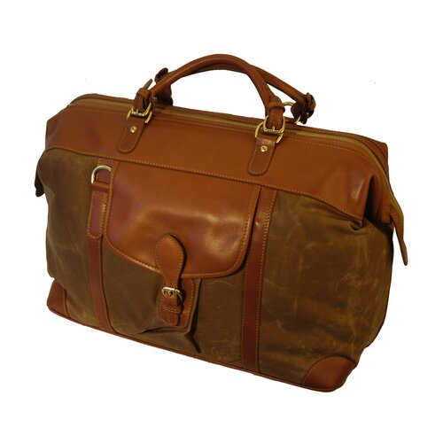 Mulholland Brothers Waxed Canvas Shorthorn Weekener Duffel
