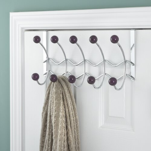Elegant Home Fashions 5 Hook Over the Door Coat Rack