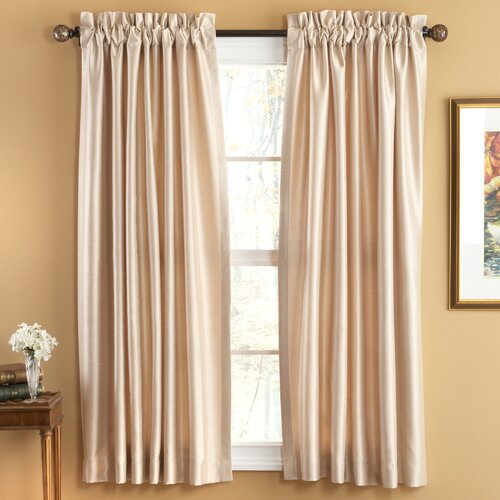 Elegant Home Fashions Evelyn Luxury Faux Silk Rod Pocket Window Curtains Panel
