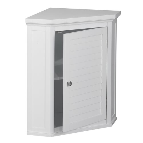 "Elegant Home Fashions Slone 22.5"" x 24"" Corner Wall Mounted Cabinet"