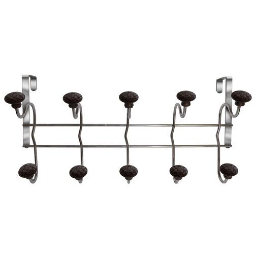 Elegant Home Fashions Woven Over-the-Door 5-Hook Rack