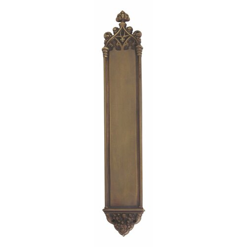 BRASS Accents Gothic Push Plate