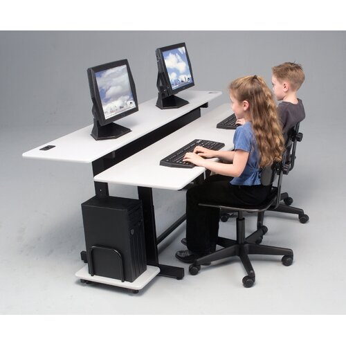 "Balt Split Level Adjustable 72"" W x 36"" D Workstation"