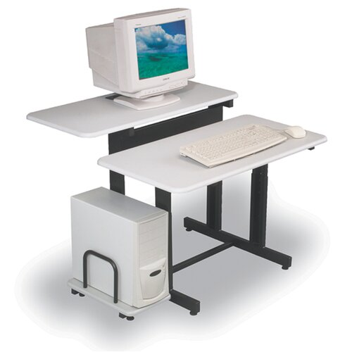 Balt Split-Level Adjustable Computer Table