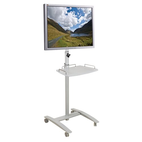 "Balt Lumina 25"" Flat Panel Stand in Brushed Metal"