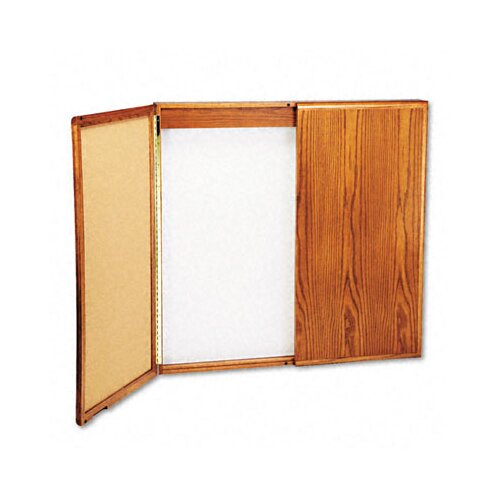 Balt Best-Rite® Wood Conference Cabinet 4' x 4 - 8' Whiteboard