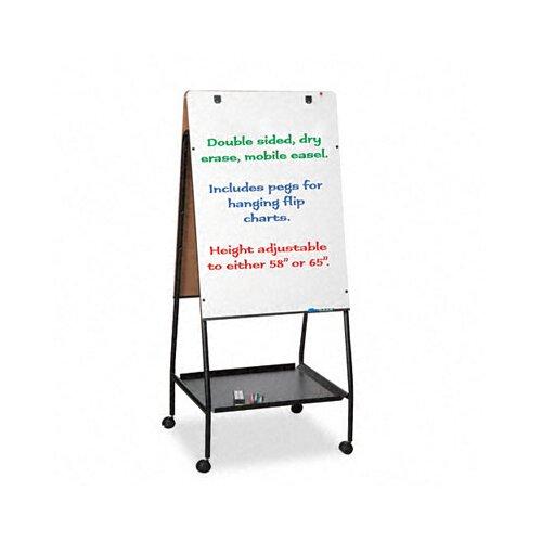 "Balt Best-Rite® Wheasel® Easel Dry 4' 11.5"" x 2' 4.75"" Whiteboard"