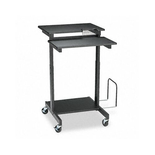 Balt Web A/V Stand-Up Workstation, 34w x 31d x 44-1/2h, Black Laminate Top