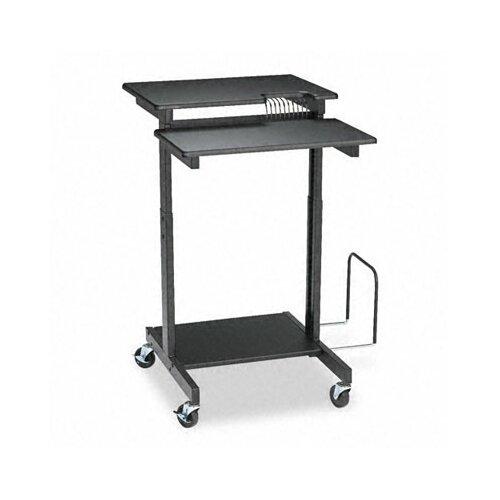 Balt Web A/V Stand-Up Workstation, 34w x 31d x 44-1/2h, Black Laminate Top