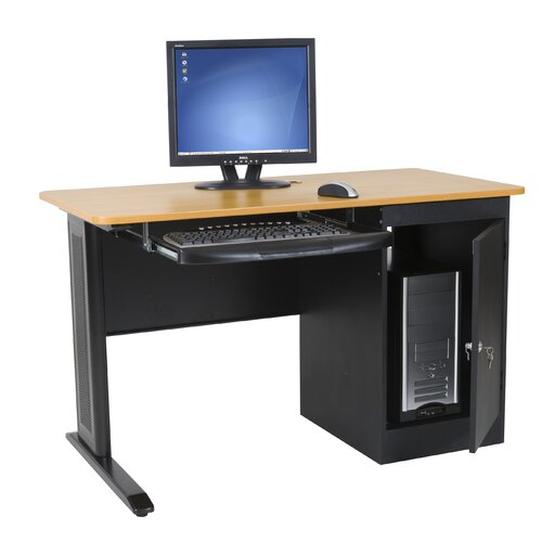 Balt Computer Desk with Locking CPU Holder