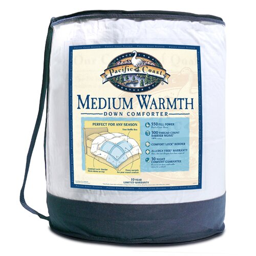 Pacific Coast Feather Medium Warmth Down Comforter