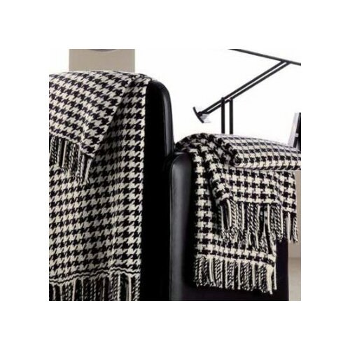100% Cashmere Houndstooth Throw