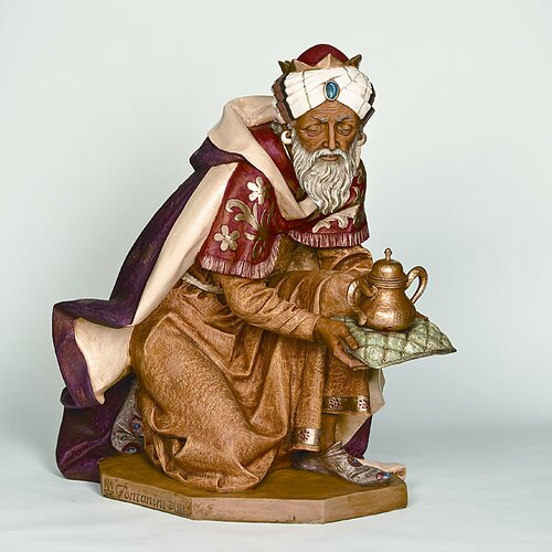 Scale Standing King Balthazar Figurine Christmas Decoration
