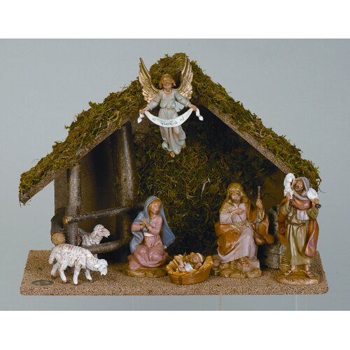 Fontanini Seven Piece Figurine Set with Italian Stable